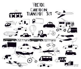 black and white transport