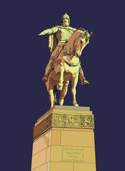 Памятник Юрию Долгорукому в Москве (Yury Dolgoruky Monument XIX Century)