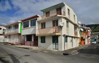 Martinique, picturesque city of Sainte Luce in West Indies