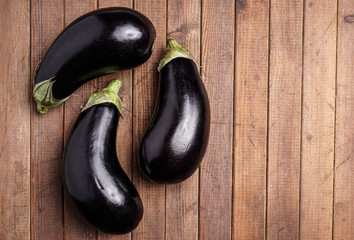 Healthy Organic Eggplant, purple