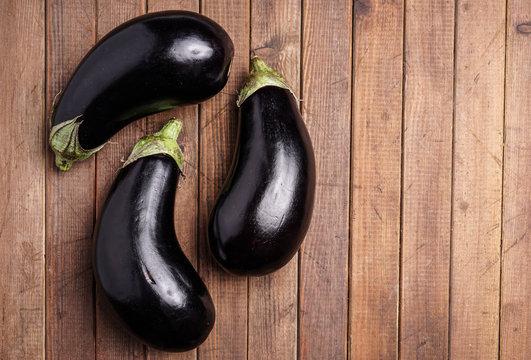 Healthy Organic Eggplant, purple