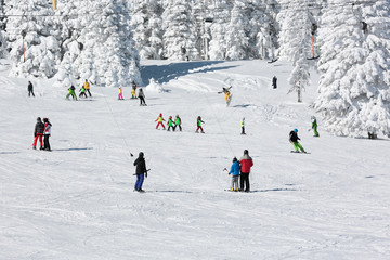ski resort of Uludag Mountain. Turkey