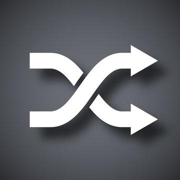Vector shuffle icon