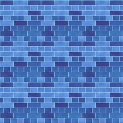 タイル模様(ブルー)/つるっとした表面のタイルで、隙間のモルタルには水色を採用。1000px四方のシームレス素材を繰り返しています。