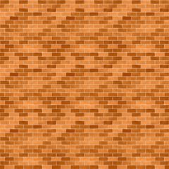 レンガ(ブラウン)/リアリティの高いレンガ。表面のざらつき、凸凹感を表現しました。レンガに濃淡をつけています。1000px四方のシームレス素材を繰り返しています。