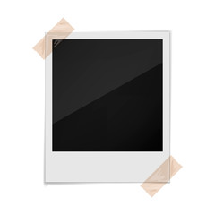 Photo frame on a white background