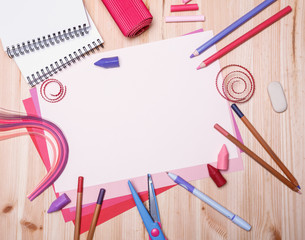 different drawing materials