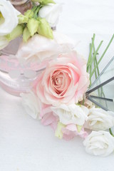 lisianthus, fleurs, flowers, rose, vase, joli, sweet, pink nature, joli, table, décoration, deco, decor