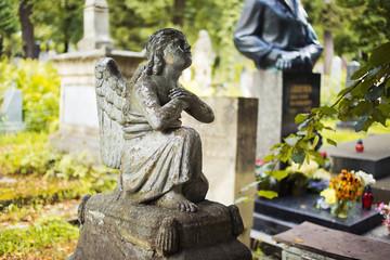 Lychakiv Cemetery in Lviv, Ukraine.  Tombstone