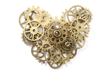 bronze gear heart