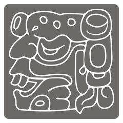 monochrome icon with American Indians relics dingbats characters for your design
