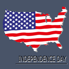 American Independence Day, logo, card, background