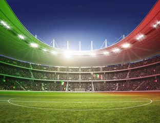 Wall Mural - Stadion farbiges Licht Italien 2