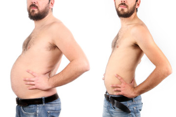 Boy before and after weight loss