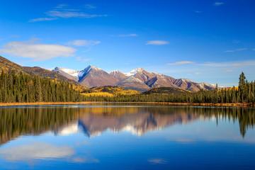 Fall reflection in Wrangell-St.Elias National Park, Alaska Wall mural