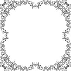 Luxury baroque frame