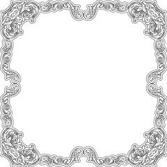 Luxury baroque frame