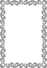 Retro ornate luxury art baroque frame