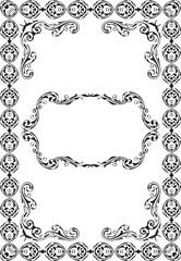 Retro ornate luxury art frame