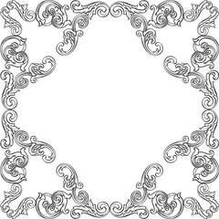 Retro victorian frame