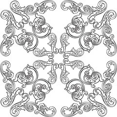 Retro victorian rosette
