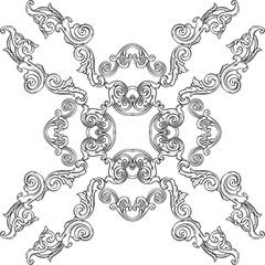 Victorian rosette