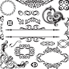 Art baroque ornate set