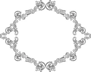 Baroque fine greeting frame