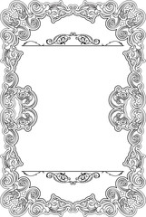 Ornate retro fine frame