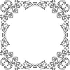 Retro art frame element