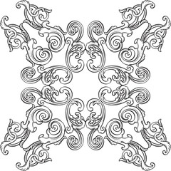 Retro art rosette element