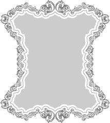 Victorian greeting retro frame