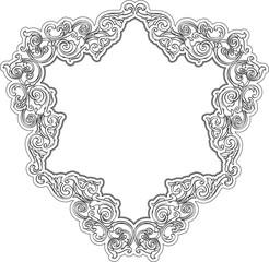 Triangle retro frame
