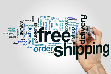 Free shipping word cloud concept