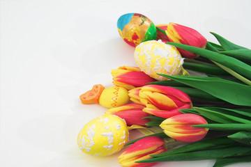 Jajka wielkanocne w tulipanch