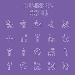Business icon set.
