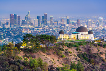 Griffith Park, Los Angeles, California, USA Skyline