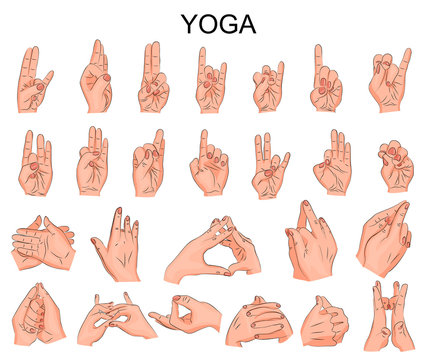 the position of the hands in yoga, in meditation