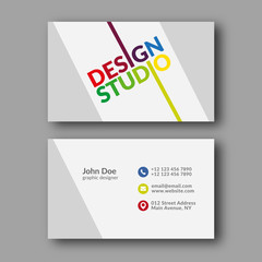 Design Studio Business Card Template