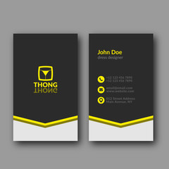 Dress designer business card template