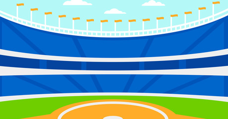 Background of baseball stadium.