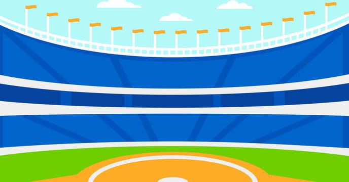 Background of baseball stadium.