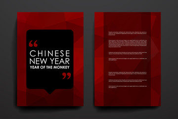 Set of brochure, poster design templates in Chinese New Year style