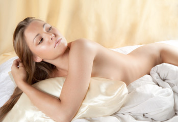 Nude Woman in Bed
