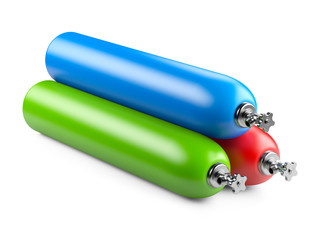 Propane cylinders with compressed gas