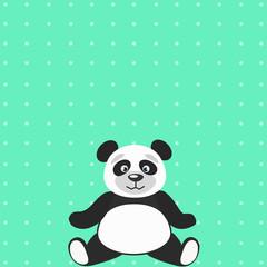 Панда на бирюзовом снежном фоне