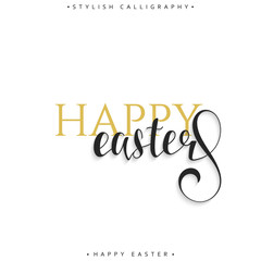 Lettering calligraphy set. Happy Easter day. Modern lettering.