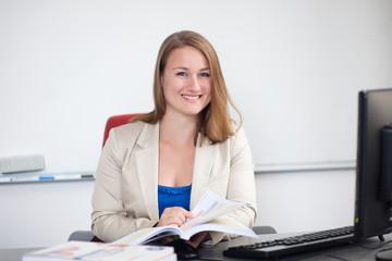 Professional teacher/instructor at work