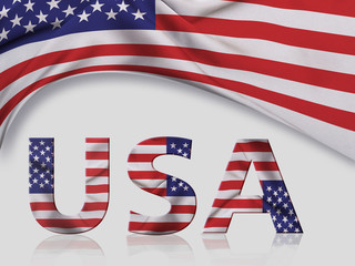 USA Background with country name