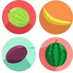 Иконки фруктов и ягод